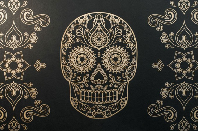 nextcrave sugar skull wallpaper. Black Bedroom Furniture Sets. Home Design Ideas